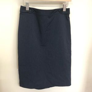 BNWOT Loft navy pencil skirt